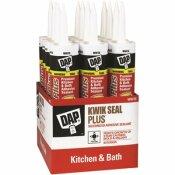 DAP KWIK SEAL PLUS 10.1 OZ. WHITE PREMIUM KITCHEN AND BATH ADHESIVE SEALANT (12-CASE)