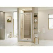 NOT FOR SALE - 205698776 - NOT FOR SALE - 205698776 - COASTAL SHOWER DOORS LEGEND 21.625 IN. TO 22.625 IN. X 64 IN. FRAMED HINGED SHOWER DOOR IN PLATINUM WITH CLEAR GLASS - COASTAL INDUSTRIES PART #: L22.66P-C