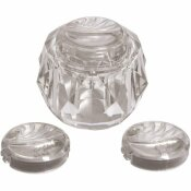 DANCO REPLACEMENT FAUCET HANDLE FOR DELTA DELEX IN CLEAR ACRYLIC