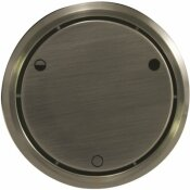 WESTBRASS ROUND REPLACEMENT, FULL OR PARTIAL CLOSING METAL OVERFLOW, SATIN NICKEL - WESTBRASS PART #: D493CHM-07