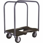 SNAP-LOC 1,500 LBS. CAPACITY AIR-RIDE PROFESSIONAL E-TRACK PANEL CART DOLLY IN BLACK