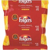 FOLGERS CLASSIC ROAST GROUND COFFEE FILTER PACK GROUND CAFFEINATED