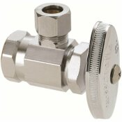 BRASSCRAFT 1/2 IN. FIP INLET X 3/8 IN. O.D. COMP OUTLET MULTI-TURN ANGLE STOP