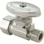 BRASSCRAFT 1/2 IN. NOMINAL COMPRESSION INLET X 3/8 IN. O.D. COMPRESSION OUTLET MULTI-TURN STRAIGHT VALVE IN CHROME