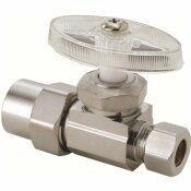 BRASSCRAFT 1/2 IN. NOMINAL CPVC INLET X 3/8 IN. O.D. COMPRESSION OUTLET BRASS MULTI-TURN STRAIGHT STOP