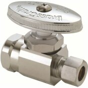 BRASSCRAFT 1/2 IN. FIP INLET X 3/8 IN. O.D. COMPRESSION OUTLET MULTI-TURN STRAIGHT VALVE IN CHROME