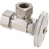 BRASSCRAFT 1/2 IN. NOM COMP INLET X 7/16 IN. & 1/2 IN. SLIP-JOINT OUTLET MULTI-TURN ANGLE STOP