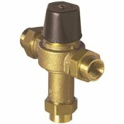 POWERS PROCESS CONTROLS POWERS UNDER COUNTER THERMOSTATIC MIXING VALVE, 1/2 IN. UNION NPT FEMALE, ROUGH BRONZE, LEAD FREE - POWERS PROCESS CONTROLS PART #: LFLM495-1