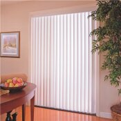 DESIGNER'S TOUCH 3.5 IN. PVC VERTICAL BLINDS ALABASTER - 35 IN. W X 96 IN. L - DESIGNER'S TOUCH PART #: VT3596A