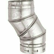 AMERICAN METAL PRODUCTS 4 IN. B VENT 90-DEGREE ADJUSTABLE ELBOW