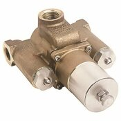 SYMMONS 1-1/2 IN. OUTLET X 1-1/4 IN. INLETS TEMPCONTROL THERMOSTATIC MIXING VALVE, ROUGH BRASS