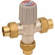 HONEYWELL 3/4 IN. LEAD-FREE SWEAT UNION MIXING VALVES, 70 - 145 DEGREE OPERATING TEMPERATURE