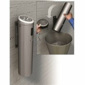 COMMERCIAL ZONE SMOKERS OUTPOST SWIVEL LOCK 0.87 GAL. SILVER WALL-MOUNTED OUTDOOR ASHTRAY