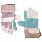 CUSTOM LEATHERCRAFT DOUBLE LEATHER PALM LARGE SAFETY CUFF WORK GLOVES (12-PAIRS)