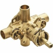 MOEN 1/2 IN. CC CONNECTIONS COMMERCIAL POSI-TEMP ROUGH-IN SHOWER VALVE WITH INTEGRAL STOPS