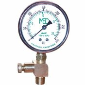 MEC HIGH PRESSURE TEST GAUGE KIT 0-300 PSI, LIQUID FILLED, 1/4 IN. MNPT BOTTOM MOUNT, INCLUDES BLEEDER