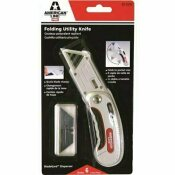 AMERICAN LINE FOLDING UTILITY KNIFE, WITH 5 BLADES