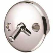 PROPLUS BATH DRAIN WITH TRIP LEVER FACE PLATE IN CHROME (5-PACK)