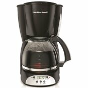 HAMILTON BEACH 12 CUP DIGITAL COFFEE MAKER, BLACK