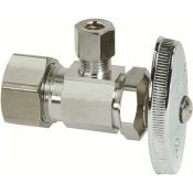 BRASSCRAFT 1/2 IN. NOMINAL COMPRESSION INLET X 1/4 IN. O.D. COMPRESSION OUTLET MULTI-TURN BRASS ANGLE STOP