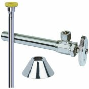 TOILET KIT: 1/2 IN. NOM SWEAT X 3/8 IN. O.D. COMP MULTI-TURN ANGLE VALVE WITH 5 IN. EXTENSION, 12 IN. RISER AND FLANGE - BRASSCRAFT PART #: CS401DLX C