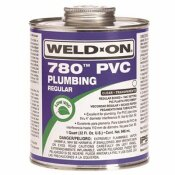 IPS CORPORATION WELD ON 780 REGULAR-BODIED PVC CEMENT, CLEAR, QUART