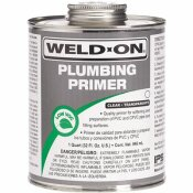 IPS CORPORATION WELD ON PVC / CPVC PRIMER, CLEAR, PINT
