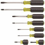 KLEIN TOOLS ASSORTED SCREWDRIVER SET WITH CUSHION GRIP HANDLES (8-PIECE)