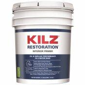 KILZ RESTORATION 5 GAL. WHITE INTERIOR PRIMER, SEALER, AND STAIN BLOCKER - KILZ RESTORATION PART #: L200205