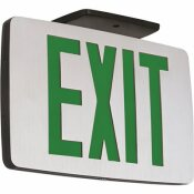 2-WATT EQUIVALENT 120 OR 277-VOLT INTEGRATED LED BRUSHED ALUMINUM WITH BLACK EDGE EXIT SIGN AND BATTERY BACK-UP
