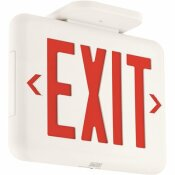 HUBBELL LIGHTING DUAL-LITE 2-WATT WHITE/RED INTEGRATED LED EXIT SIGN WITH BATTERY
