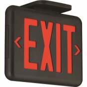 HUBBELL LIGHTING DUAL-LITE 2-WATT BLACK-RED INTEGRATED LED EXIT SIGN WITH NI-MH BATTERY