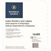 S.P. RICHARDS CO. INDEX DIVIDERS, 12 TABS, 3HP, 5 SETS PER BOX, WHITE
