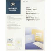 S.P. RICHARDS CO. MAILING LABELS, RETURN ADDRESS, LASER, 1/2 IN. X 1-3/4 IN., 2000 PER PACK, WHITE