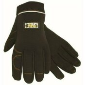 LEGENDFORCE SYNTHETIC LEATHER MECHANIC GLOVES, HOOK AND LOOP STRAP, LARGE