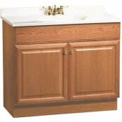 RSI HOME PRODUCTS 36 IN. X  31 IN. X  18 IN. RICHMOND BATHROOM VANITY CABINET WITH TOP WITH 2-DOOR IN OAK