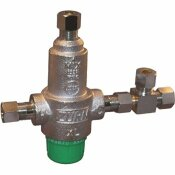ZURN 3/8 IN. LEAD-FREE AQUA-GARD THERMOSTATIC MIXING VALVE WITH 4 PORT