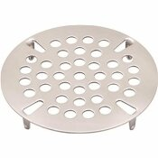 PREMIER 3-1/2 IN. COMMERCIAL FLAT WASTE STRAINER PLATE IN STAINLESS STEEL