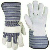 CLC LARGE SPLIT LEATHER PALM WORK GLOVES WITH EXTENDED 4.5 IN. SAFETY CUFF