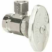 BRASSCRAFT 3/8 IN. FIP INLET X 3/8 IN. O.D. COMPRESSION OUTLET MULTI-TURN ANGLE STOP WITH BRASS STEM IN CHROME