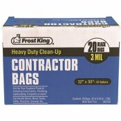 FROST KING 42 GAL. 32 IN. X 50 IN. CONTRACTOR BLACK RECYCLING BAGS (20-COUNT)
