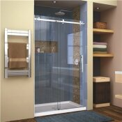 DREAMLINE ENIGMA AIR 44 IN. TO 48 IN. X 76 IN. FRAMELESS SLIDING SHOWER DOOR IN POLISHED STAINLESS STEEL