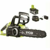 RYOBI ONE+ 12 IN. 18-VOLT BRUSHLESS LITHIUM-ION ELECTRIC CORDLESS CHAINSAW 4.0 AH BATTERY AND CHARGER INCLUDED