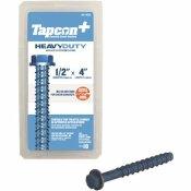 TAPCON 1/2 IN. X 4 IN. STEEL HEX WASHER-HEAD INDOOR/OUTDOOR CONCRETE ANCHORS (10-PACK)