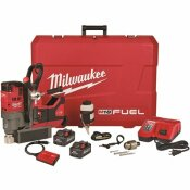 M18 FUEL 18-VOLT LITHIUM-ION BRUSHLESS CORDLESS 1-1/2 IN. LINEMAN MAGNETIC DRILL HIGH DEMAND KIT W/ TWO 8.0AH BATTERIES - MILWAUKEE PART #: 2788-22HD