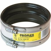 FERNCO 4 IN. FERNCO EPDM RUBBER CLAMP SHIELDED COUPLING - 4.3 PSI SILVER 3000-44 IN.