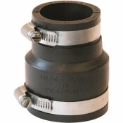 FERNCO 2 IN. X 1-1/2 IN. FLEXIBLE PVC CLAMP REDUCER COUPLING