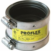 FERNCO PROFLEX SHIELDED COUPLING, 1-1/2 IN. TO 1-1/4 IN.