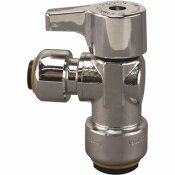 TECTITE 1/2 IN. CHROME-PLATED BRASS PUSH-TO-CONNECT X 1/4 IN. PUSH-TO-CONNECT QUARTER-TURN ANGLE STOP VALVE