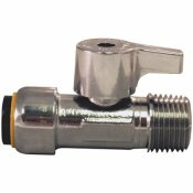 TECTITE 1/2 IN. CHROME PLATED BRASS PUSH-TO-CONNECT X 1/2 IN. MNPT QUARTER TURN STRAIGHT STOP VALVE